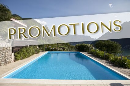 A dream pool and promotional logo in the foreground